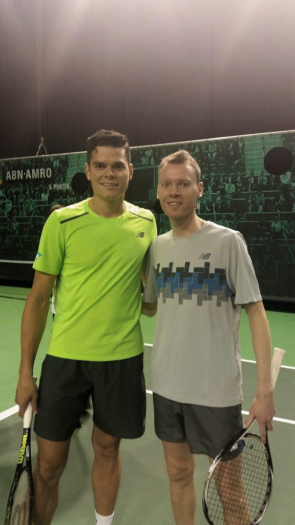 Mike met Milos Raonic