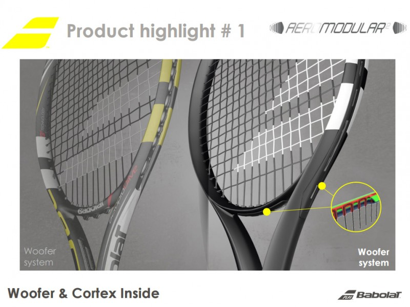Babolat Pure Aero 2016 Woofer and Cortex inside