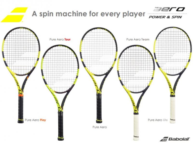 Babolat Pure Aero racket family 2016