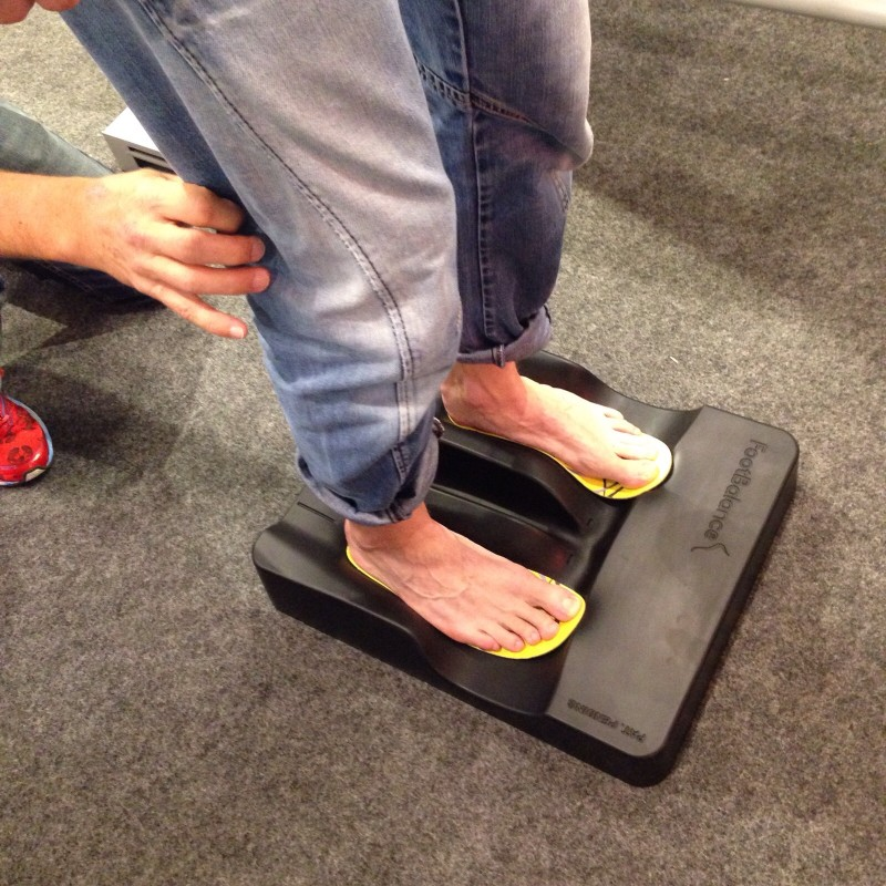Footbalance inlays measurement