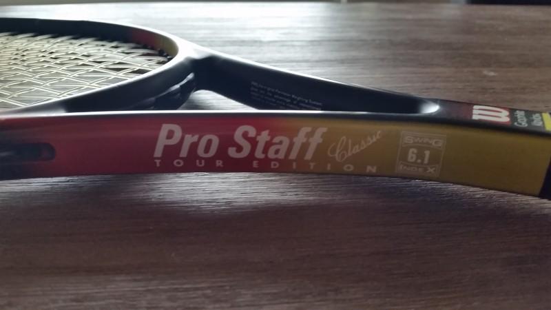 Wilson Pro Staff Classic 6.1 Tour ED throat side