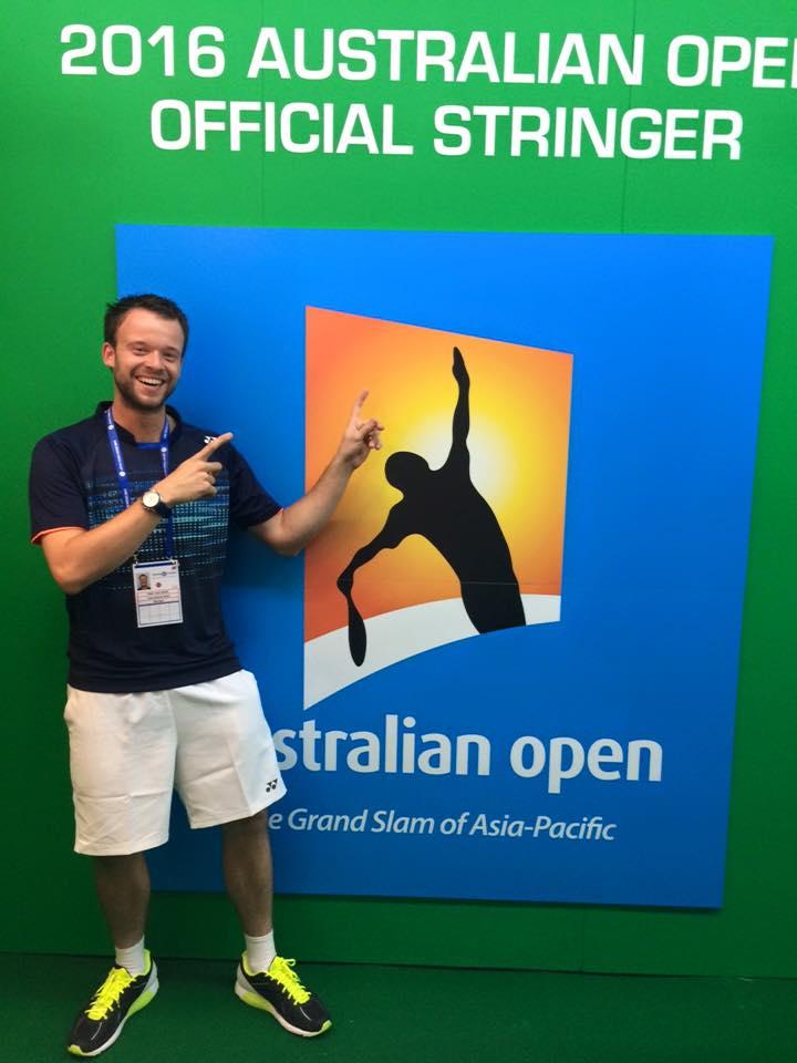 Timo van Driel Aussie Open stringer
