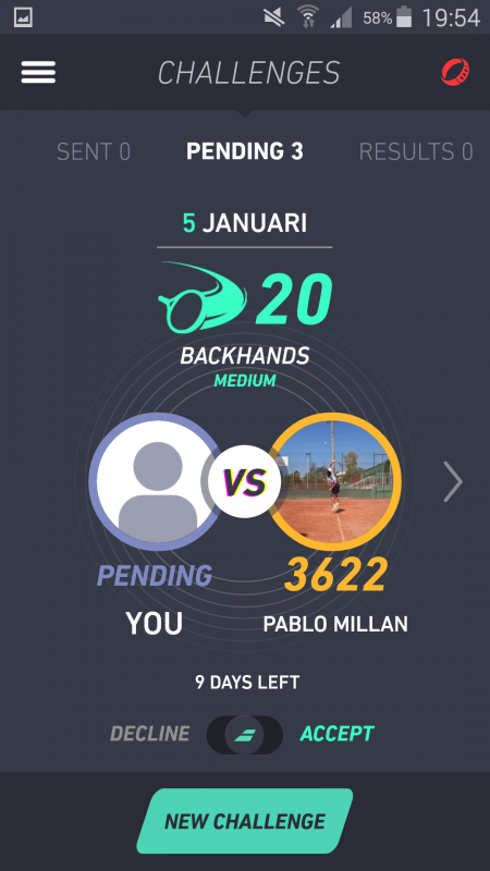 Babolat POP challenge backhand