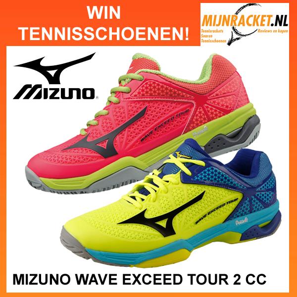 Win een paar Mizuno Wave Exceed Tour 2 CC tennisschoenen